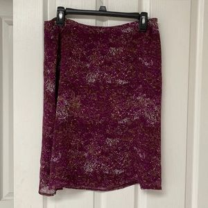 Eddie Bauer Purple Floral Skirt Size 8